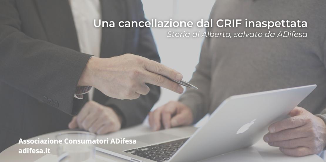 Cancellazione dal CRIF inaspettata: storia di Alberto