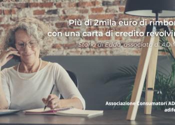 Carta revolving, più di 2mila euro di rimborso